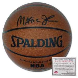 Magic Johnson Autographed Indoor/Outdoor Basketball