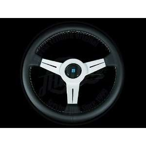 Nardi Classic 330mm Steering Wheel   Black Leather / Silver Spokes