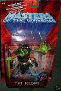 MOTU He Man MASTERS UNIVERSE Mattel MOC _____ TRI KLOPS