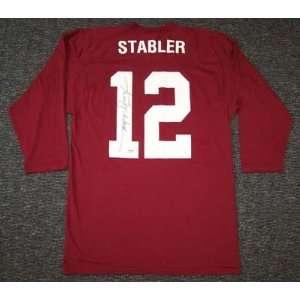 Ken Stabler Autographed Jersey   Alabama Crimson Tide Shirt PSA DNA