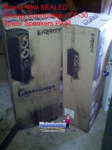 New Energy CF 30 Black HIGH END Floor Tower Music Loud Speakers PAIR