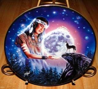 MYSTICAL MOON David Penfound INDIAN MAIDEN Franklin WOLF Plate