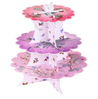 Fairies Themed Childrens Birthday Party 3 Tier Cup Cake Cupcake Stand