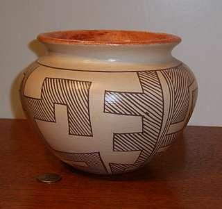 Hopi Mimbres Style Polychrome Pottery Vase