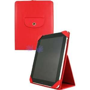 HHI iPad Faux Leather Case with Flip Portraits Stand