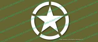 WWII Jeep Star Army Marines Vinyl Decal Sticker VLJEEP3