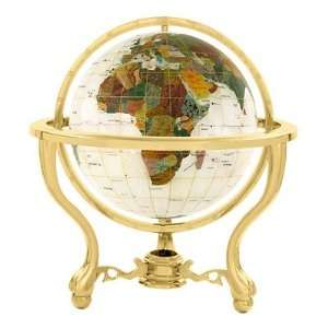 9 Full Mop Commander Globe with Three Leg Stand in Gold