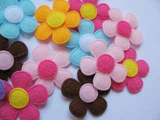 Mix Felt Spring/Daisy Flower Baby/Applique x 90 Sale