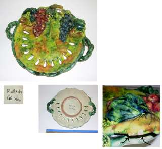Beautiful Vintage Mexican Signed 8 Art Pottery Dish
