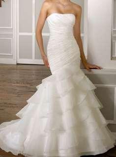 Ivory / White Organza Mermaid Beach Wedding Dress Bridal Gown Lace up