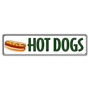 Hot Dogs Metal Sign: Home & Kitchen