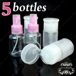 Pump Dispenser + 2 Spray Bottles Nail Art Makeup KT