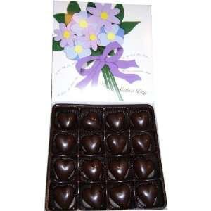 Mothers Day Gift Box Milk Chocolate Marzipan Hearts 16 pcs