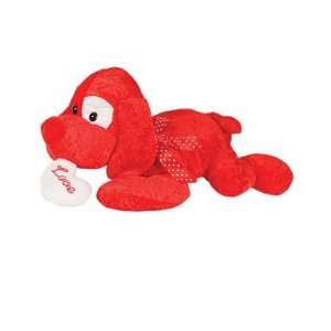 19 Inch Valentines Day Red Stuffed LOVE Puppy Dog Toys & Games