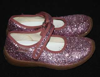 Pink Sparkle Glitter Velcro Mary Jane Sneaker Shoes 29 11 EUC