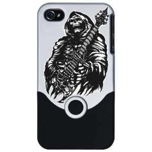 iPhone 4 or 4S Slider Case Silver Grim Reaper Heavy Metal Rock Player