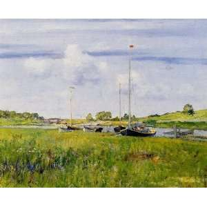 Merritt Chase   32 x 26 inches   At the Boat Landing: Home & Kitchen