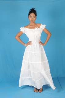 PEASANT SUN LONG MAXI BOHO HIPPIE GYPSY CASUAL Beach DRESS S M L