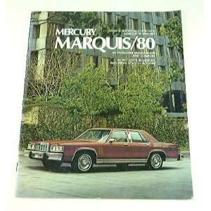 1980 80 Mercury MARQUIS BROCHURE Grand Brougham