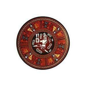 NOVICA Cuzco plate, Inca Warrior Home & Kitchen