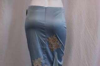 398 Mandalay Skirt Applique Sky Blue Gold Applique 2 XS #00081Z