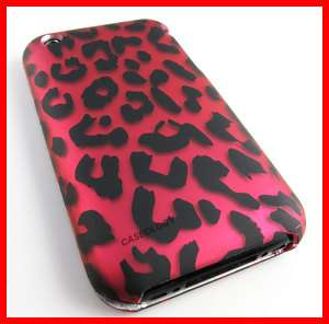 PINK LEOPARD HARD CASE COVER IPHONE 3G 3GS S ACCESSORY