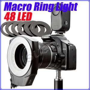 48pcs LED Makro Macro Ring Lighting Flash Unit SLR DSLR