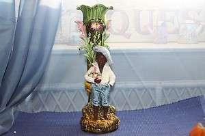 Majolica Blackamoor Black Americana African American Child Pottery
