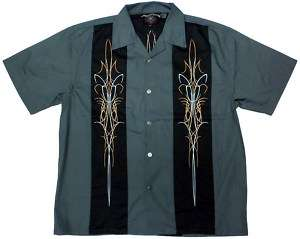 Iron Shield Biker Work Shirt, Dragonfly, M L XL 2X 3X