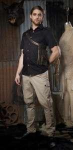 Lip Service Step in time mens long sleeve safari shirt goth gothic