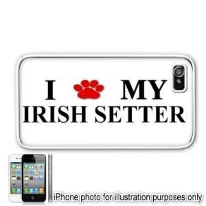 Irish Setter Paw Love Dog Apple iPhone 4 4S Case Cover
