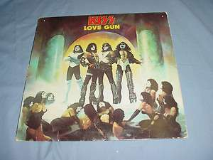 KISS love gun LP Record 1977 RARE