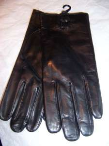 Ladies One Button Italian Leather Gloves,Thinsulate