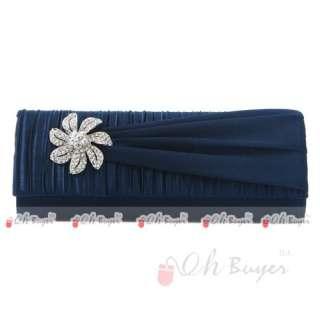 New Elegant Satin Wedding Evening Purse Clutch Handbag