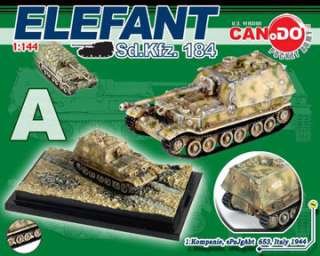 Dragon Can.Do WWII German Tanks 1144 scale Elefant / Ferdinand Series