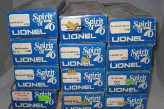 LIONEL TRAIN SPIRIT OF 76 DIESEL ENGINE 6 1776 TENDER & 13 CARS ALL