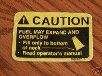 318 John Deere Fuel Tank Decal ,420