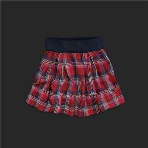 NWT Abercrombie & Fitch Women Plaid Mini Skirt Josey
