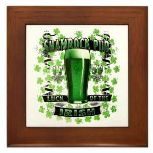 Framed Tile Shamrock Pub Luck of the Irish 1759 St Patrick