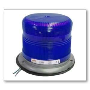 EMERG LTG, BLUE, LOW PROFILE, DBL QUAD FLASH, SPIN ON LENS