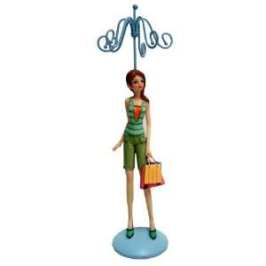 Swissco Llc Mod Girl Jewelry Holder, Lovely Girl Collection, Green
