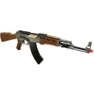 AEG Electric Metal AK 47 Assault Rifle FPS 240 Airsoft Gun