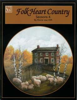 Elaine Law FOLK HEART COUNTRY SEASONS 4 Decorative Tole Painting BOOK