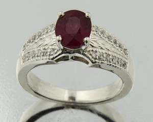 25ct natural ruby 925 solid sterling silver ladys ring ruby029