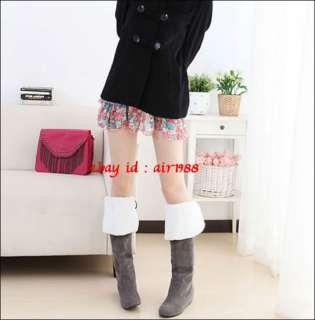 Womens Lovely Warm Winter Snow Knee High Boots Heels Shoes Back Straps
