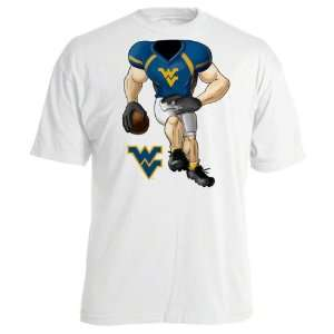 West Virginia Mountaineers Toddler White Football Star T Shirt