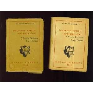 , Ingilizceden Turkceye Yeni Kucuk Lugat Kanaat Kitabevi Books