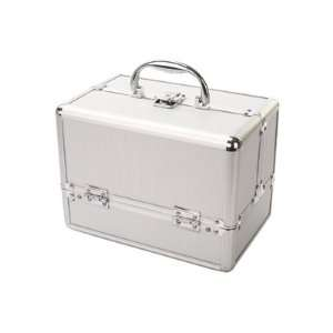 Extra Larg Pro Silver Makeup Case Size 15.4 9.8 9.8