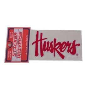 Nebraska Cornhuskers Sticker Huskers Script