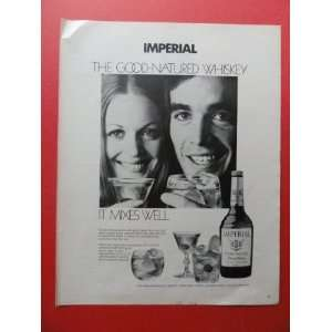 Imperial whiskey,1972 print advertisement (woman/man/drinks